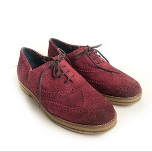 BP. Burgundy Oxford Laced Shoes Size 8.5